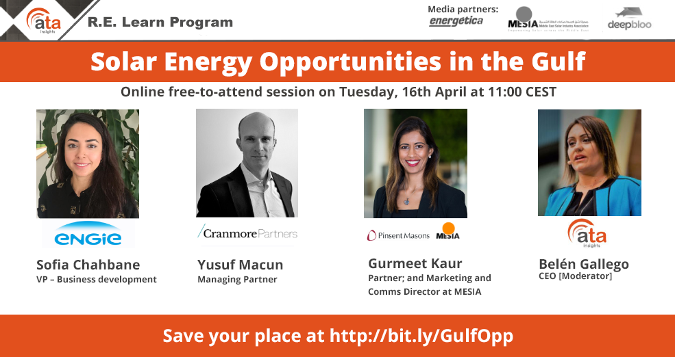 Webinar: Solar Energy Opportunities in the Gulf – MESIA